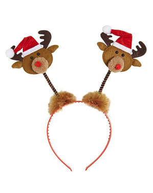 Headband with reindeers