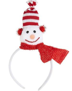 Diadema de muñeco de nieve