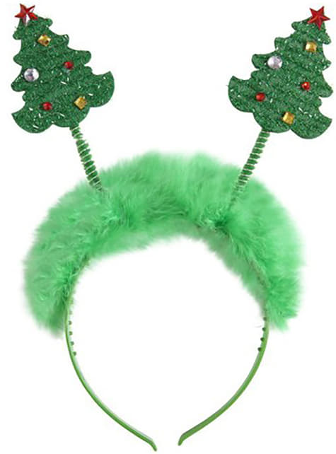 Diadema de árboles de Navidad