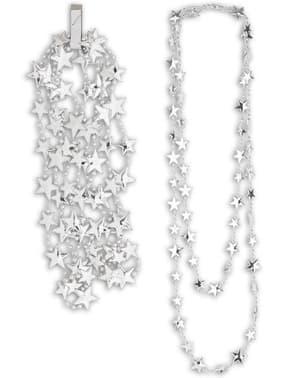 Halskjede med sølvstjerner