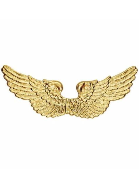 Asas de anjo douradas