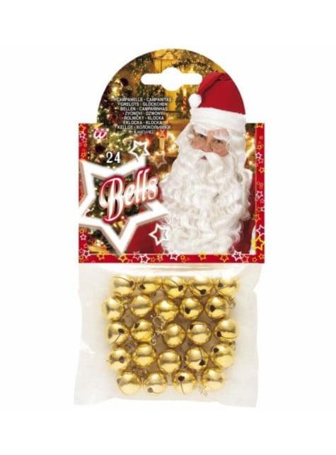 Set de 24 cascabeles navideños - para tu disfraz