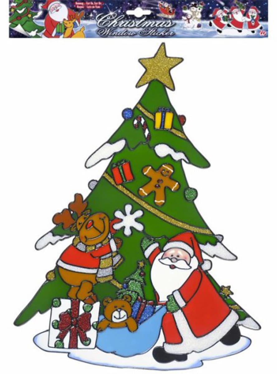 Pegatina para ventana rbol de navidad comprar online en for Arbol navidad online