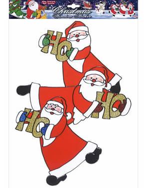 Julenisse HO HO HO Vindu Klistermerke