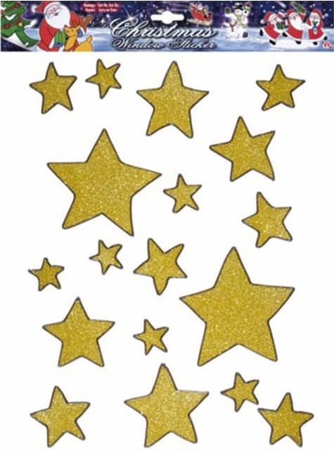 Set de 18 pegatinas de estrella para ventana