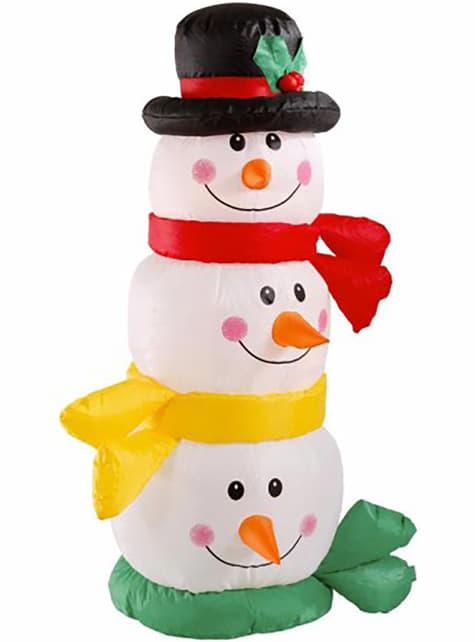 Torre de bonecos de neve insuflável