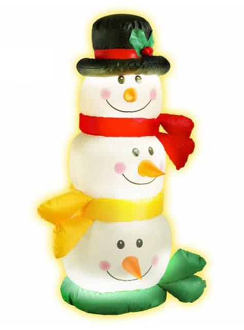 Torre de muñecos de nieve hinchable - para tus fiestas