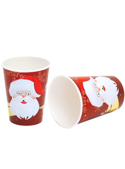 Conjunto de 8 copos Pai Natal