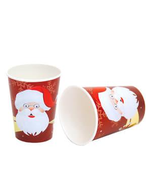 8 copos Pai Natal