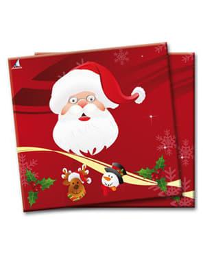 סט 20 סנטה קלאוס napkings