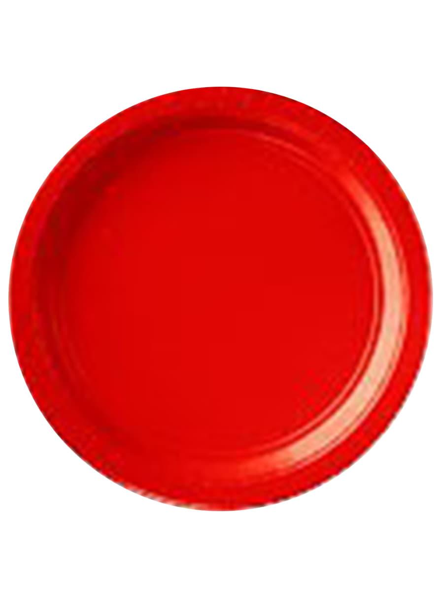petites assiettes rouges lot de 8 acheter en ligne. Black Bedroom Furniture Sets. Home Design Ideas