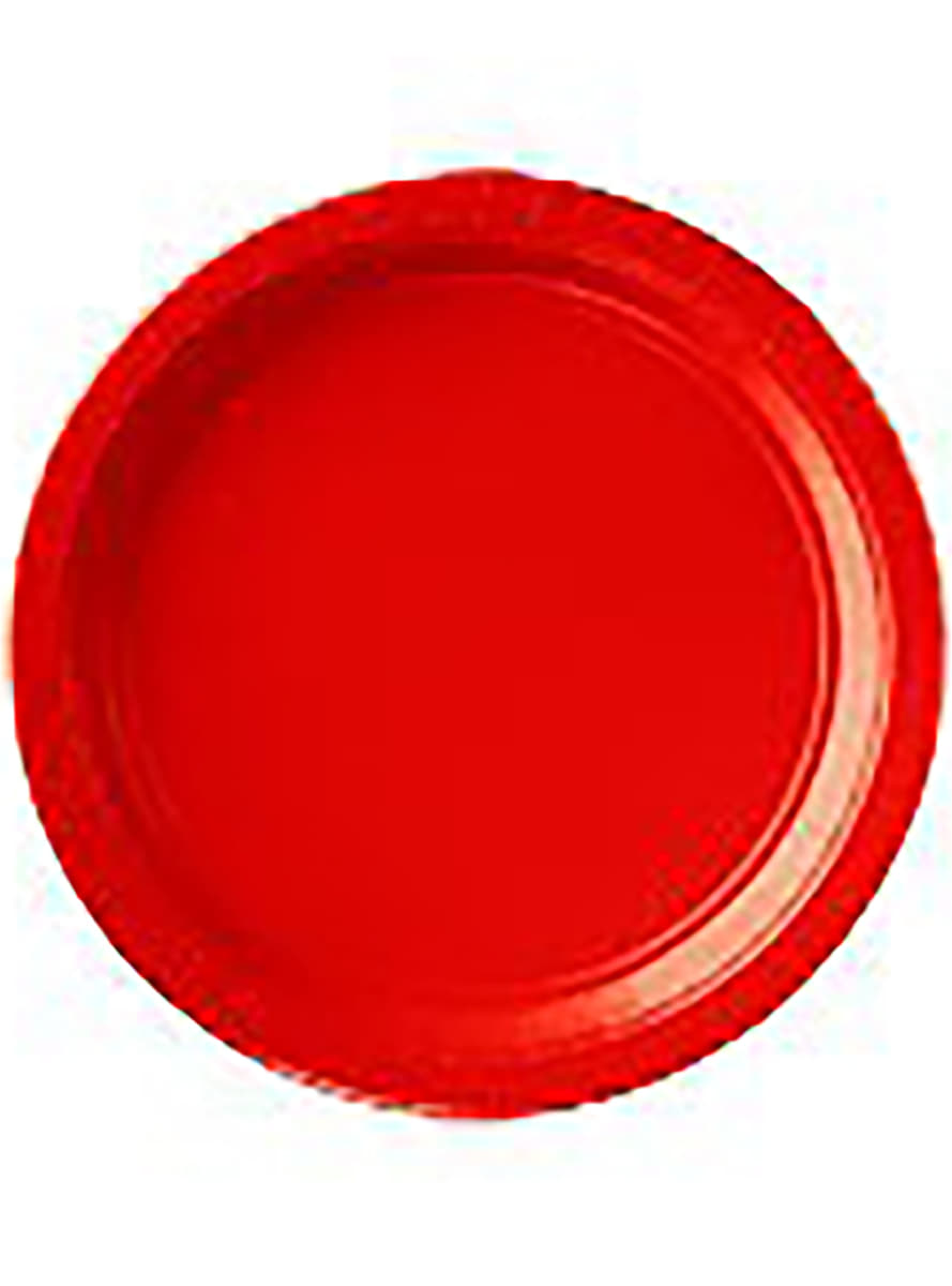 Set de 8 platos rojos para fiestas funidelia for Set de platos