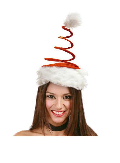 Bonnet de Noël rouge spirale