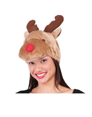 Mössa med renen Rudolf
