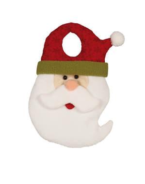 Dekoracja na klamkę od drzwi Święty Mikołaj