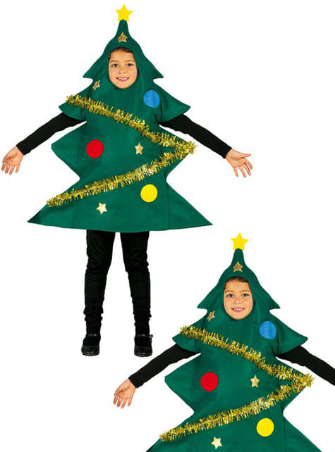 Decorated Christmas tree costume for child
