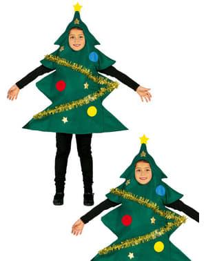 Fato de árvore de Natal adornada para menino