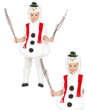 Fato de boneco de neve feliz
