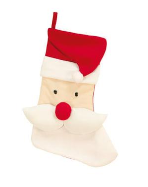 Koristeellinen joulupukkisukka