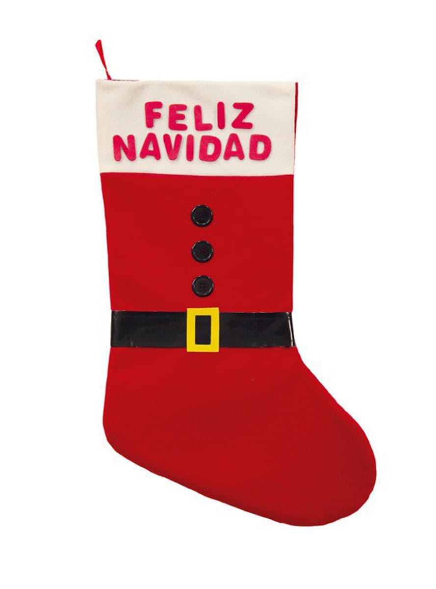 Weihnachts Socke Santa Claus für Partys und Geburtstage | Funidelia