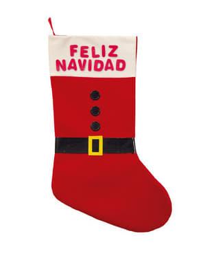 Calcetín decorativo traje Papá Noel