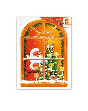 Naklejka okienna Święty Mikołaj