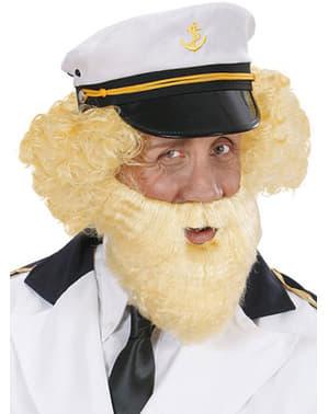 Sada vousů starý námořník blond