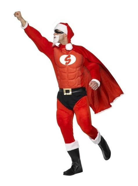 Disfraz de Super Papá Noel musculoso - traje