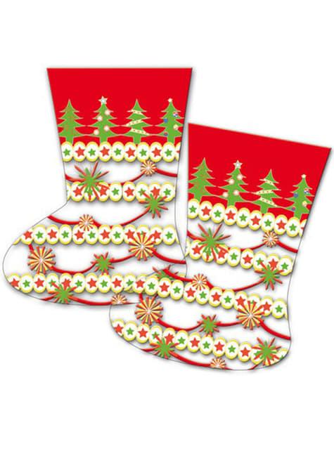 10 bolsas calcetín navideño