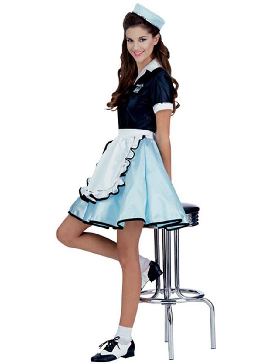 Disfraz de camarera a os 50 entrega 24h funidelia - Zapatos camarera antideslizantes ...