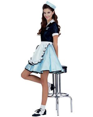 50s servitør Kostyme