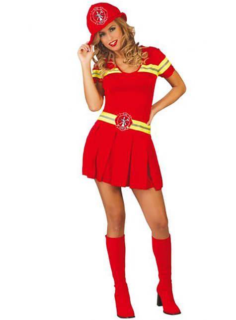 Brandweerman kostuum voor vrouwen