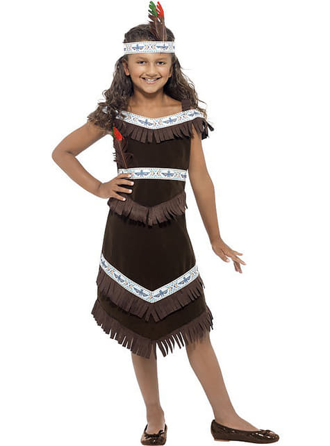 Apache Indian costume for a girl