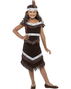 Costum de indiancă apașă pentru fată