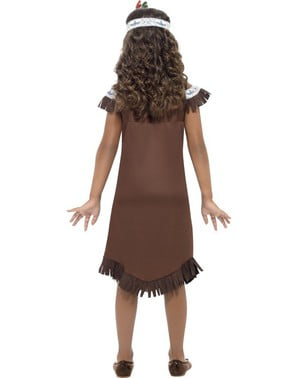 Dívčí kostým Indiánka z kmene Apačů