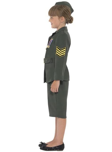 Costume da ufficiale di guerra per bambina
