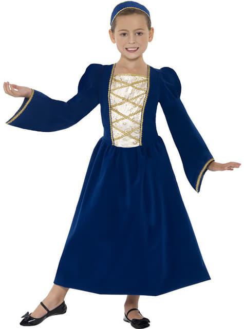 Fato de princesa Tudor para menina