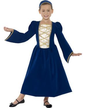 Costum albastru renascentist pentru fete