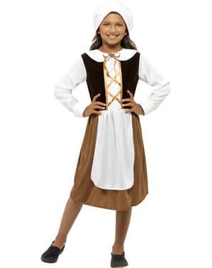 Tudor husjungfru Maskeraddräkt Barn