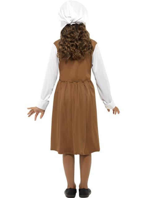 Disfraz de doncella Tudor para niña - niña