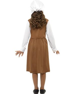 Tudor møy kostyme for jente