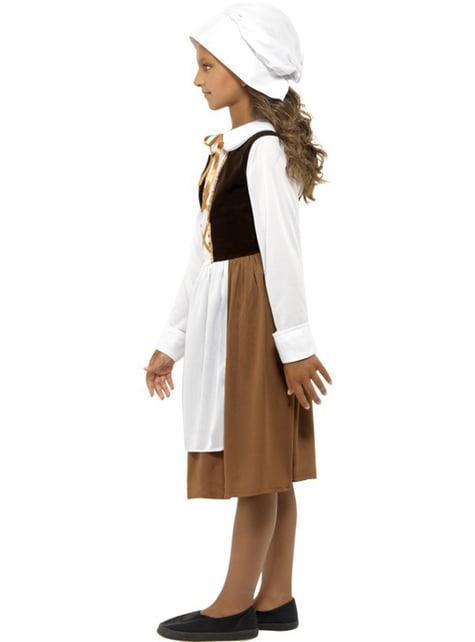 Disfraz de doncella Tudor para niña - original