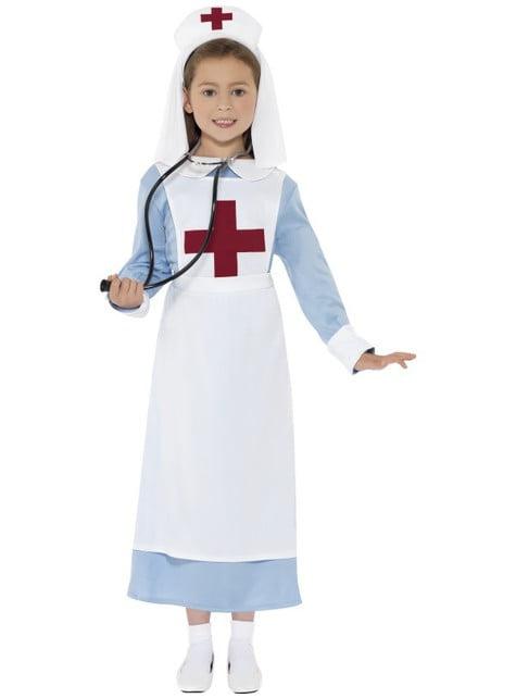 Fato de enfermeira de guerra para menina