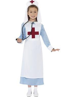 Disfraz de enfermera de guerra para niña