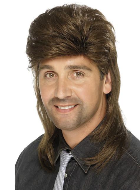 80s στυλ Brown περούκα για τους άνδρες