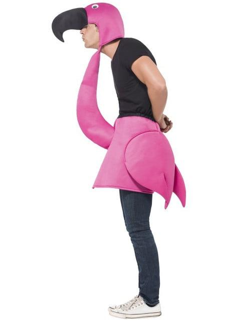 Fato de flamingo cor-de-rosa para adulto