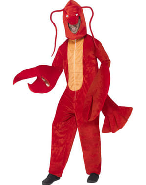 Costume da aragosta con tenaglie per adulto