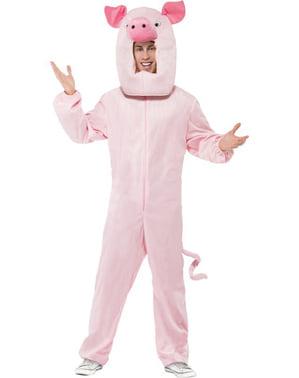 Babe den kække gris kostume til voksen