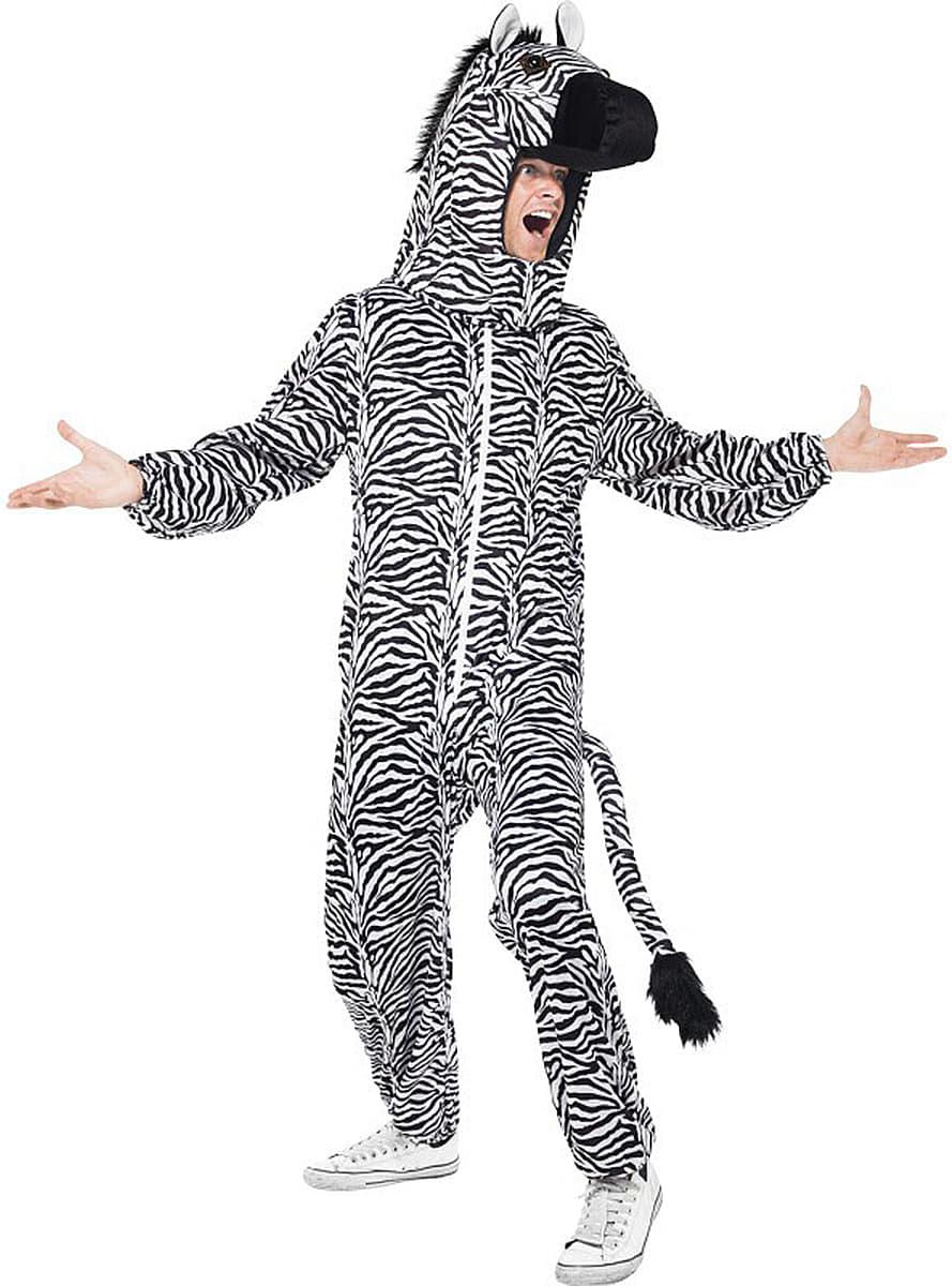 zebra kost m f r erwachsene funidelia. Black Bedroom Furniture Sets. Home Design Ideas