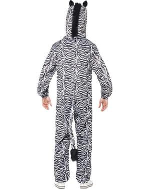 Fato de zebra para adulto
